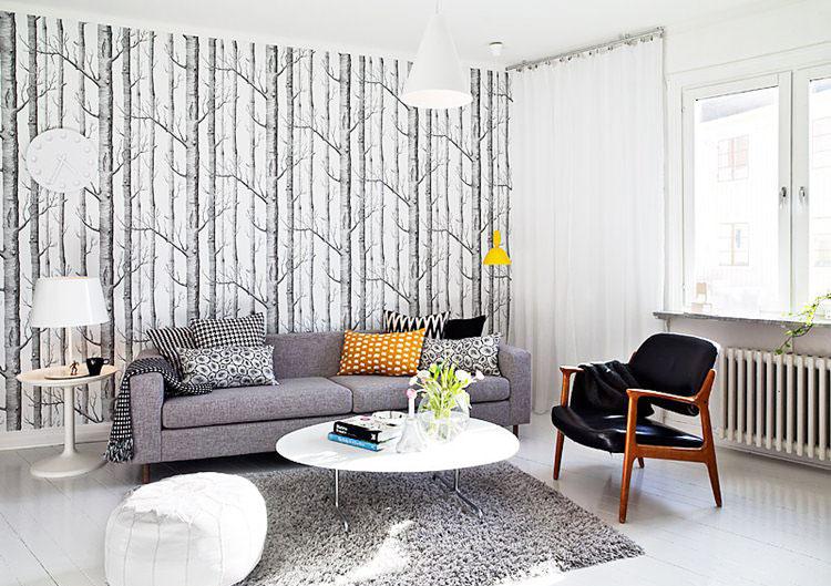 自然系北欧客厅壁纸