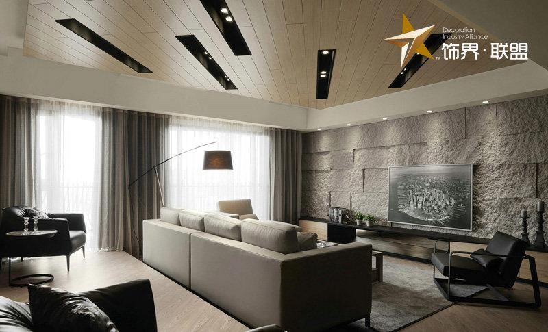 5-10万80平米loft二居室装修效果图,loft现代风装修图