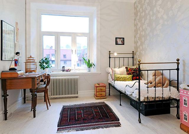 北欧卧室绿植造窗台好风景