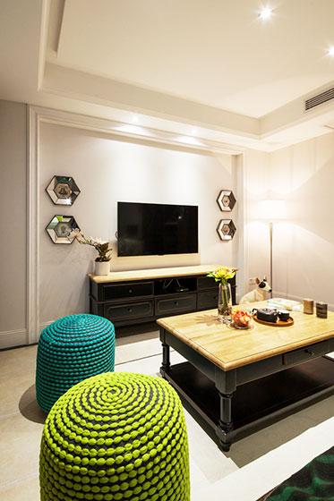 简约风格二居室80平米装修效果图
