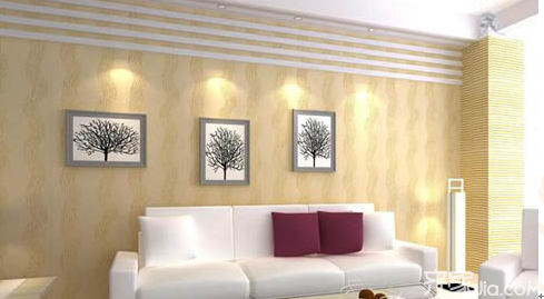 客厅沙发硅藻泥背景墙 四大受欢迎的理由