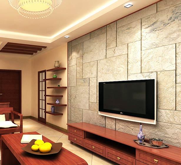 个性新中式电视背景墙效果图