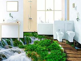 看一眼就尖叫 12个创意卫浴间3D地板纸