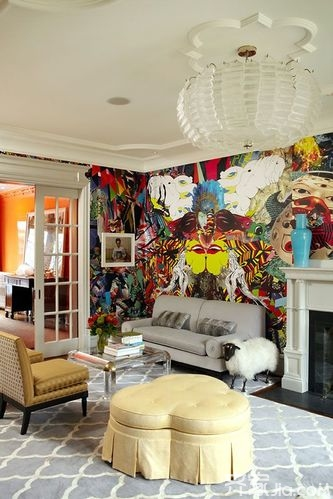 另类墙面装饰 将涂鸦墙搬进家 2图片