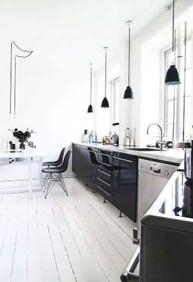 黑白厨房设计图