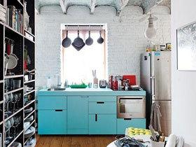 打造清爽厨房 15款蓝色整体厨房图片
