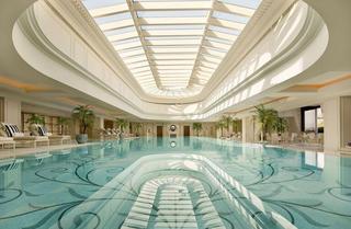 五星级大酒店游泳池设计效果图