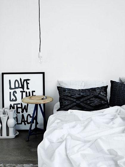 简欧黑白卧室设计
