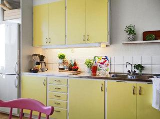 黄色厨房设计