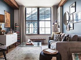 经典北欧工业风设计 两居室公寓装修