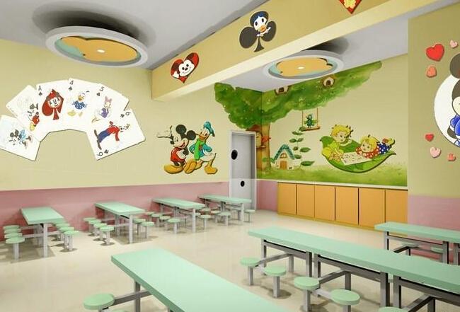 幼兒園餐廳布置圖片