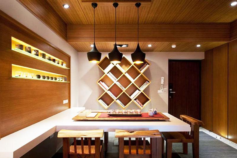 禅意日式装修风格餐厅设计