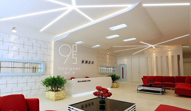 美容院大厅设计室内效果图片