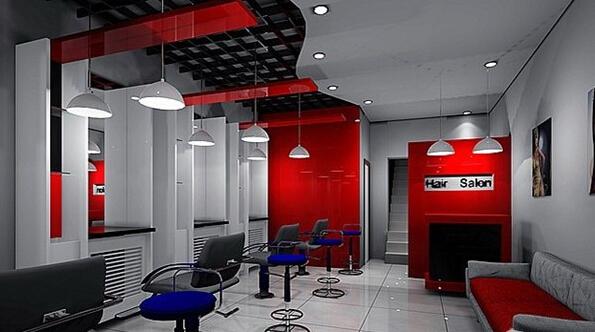 美发店室内吧台设计图片-装修效果图案例 2018年装修效果图 齐家网装