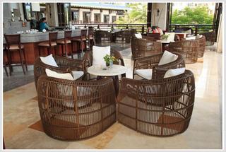 咖啡厅藤艺装饰设计图片