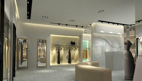 现代服装店设计装饰室内效果图片