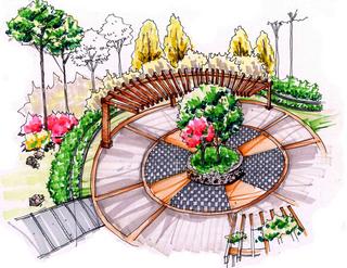 广场手绘设计图欣赏