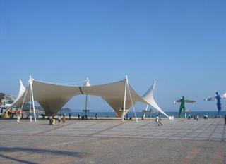 海边广场装饰图片