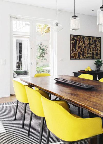 黄色元素餐厅图片