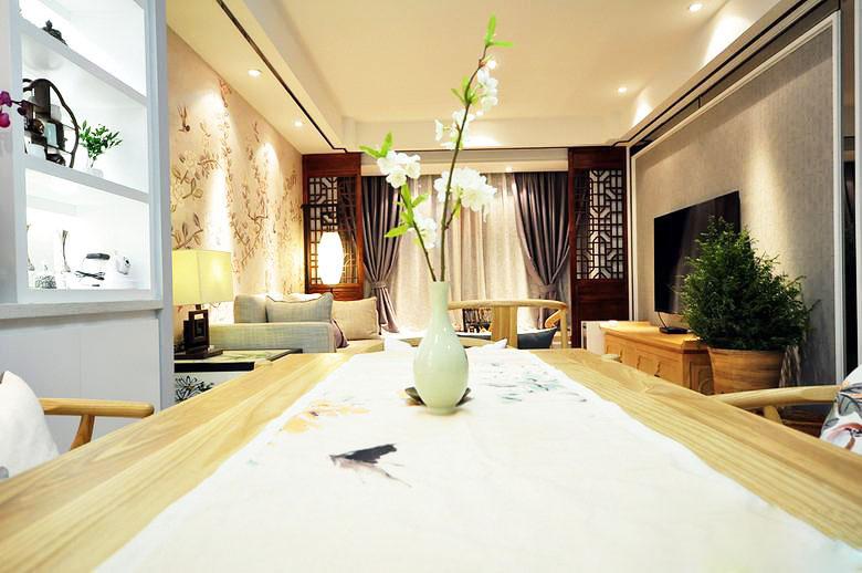 新中式风格两室一厅温馨装修效果图