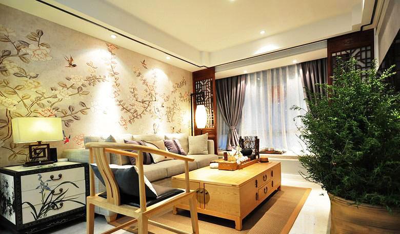 新中式风格两室一厅温馨效果图