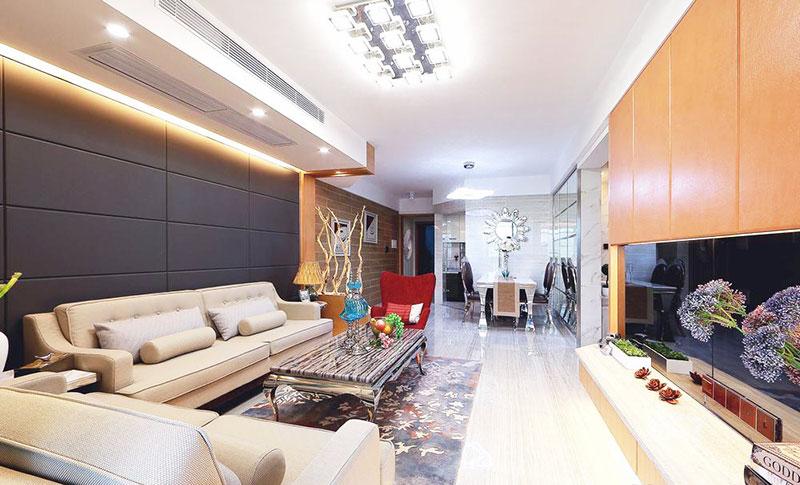130平方装修效果图客厅设计