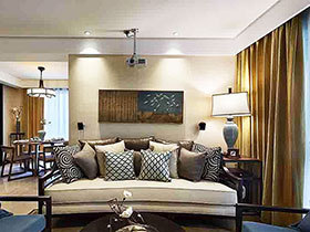 中性色调新中式 两室一厅装修图