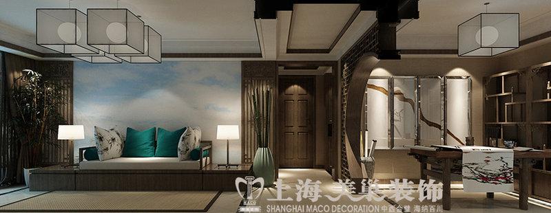 丰产路家属院120平方三室新中式装修效果图