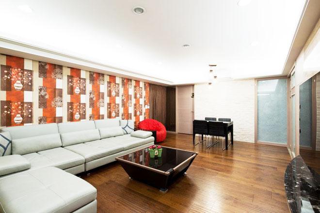 简约风格两室一厅140平米以上效果图
