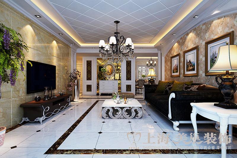 升龙国际133平方三室两厅简欧风格装修效果图装修案例效果图 齐家