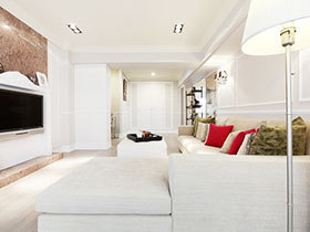 124平米简欧风格装修 淡雅清新家