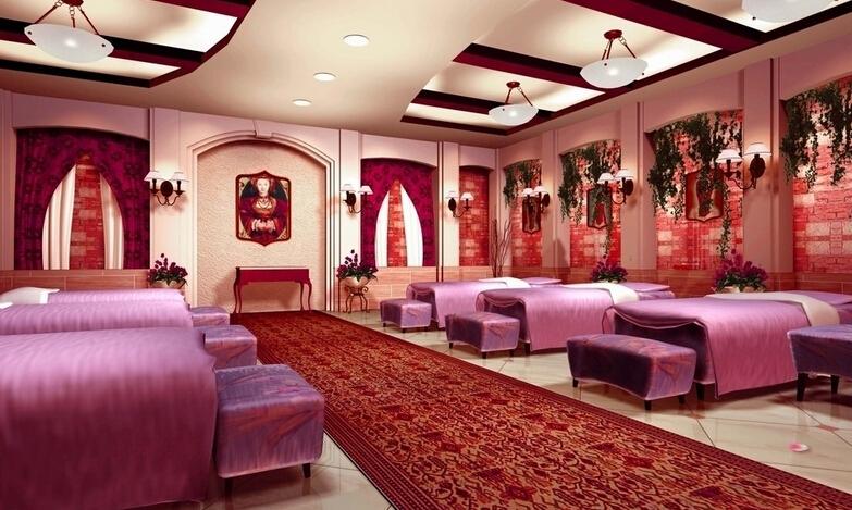 美容院座位设计装潢效果图片