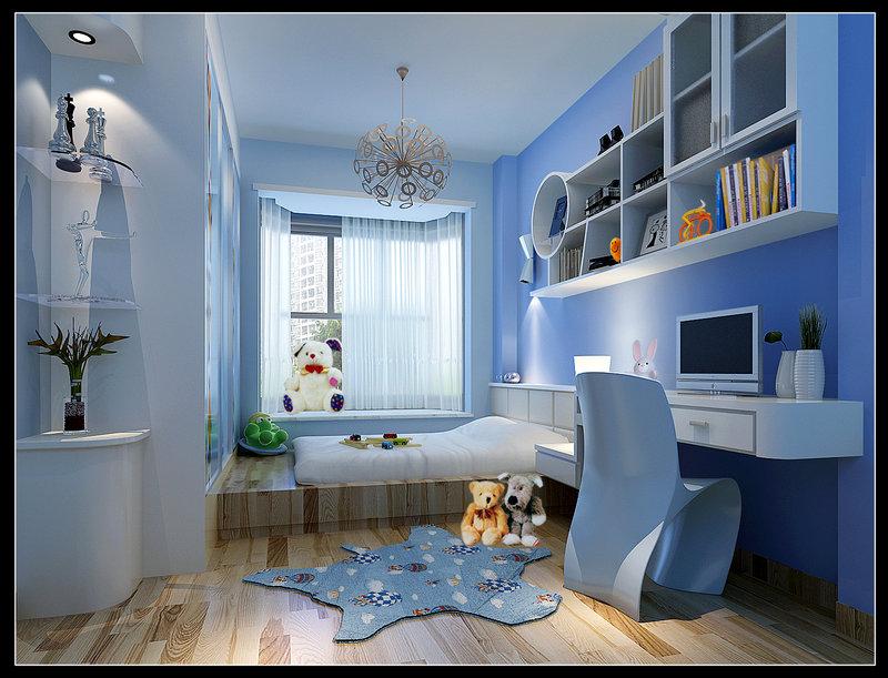 男孩的卧室装修效果图-儿童卧室装修效果图男/男儿童房间装修效果图图片