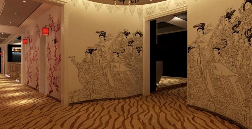 美容院室内房间效果图
