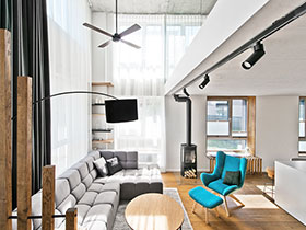 85平米二居室loft效果圖 開放式空間設計