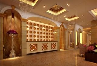 美容院设计室内大厅图片