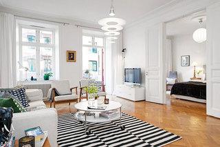 北欧风格白色110平米装修效果图