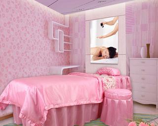 美容院粉色装饰效果图片