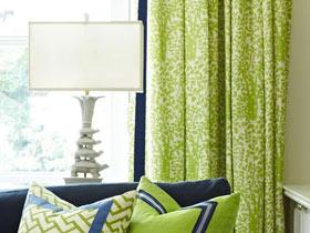 绿色窗帘装饰图 打造春意盎然的家
