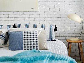 12个卧室裸砖背景墙 复古即视感