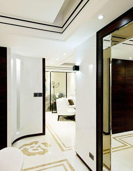 128平米新中式装修风格玄关设计
