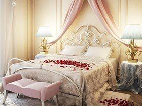 12个复古铁艺床 制造卧室的古典香氛