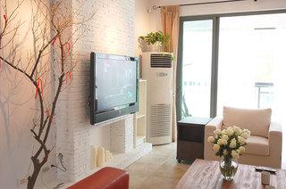 一居室小户型装修图客厅电视背景墙设计