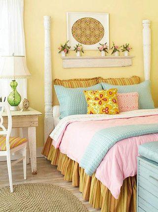 可爱清新复古风卧室