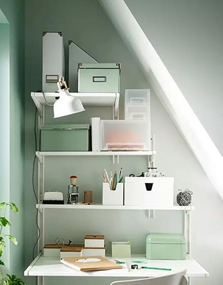 北欧风格卧室一层别墅及小清新品牌书桌图片