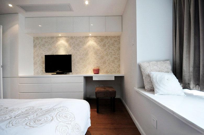 107平米简欧装修风格卧室飘窗设计