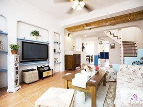 三居室装修 11图三室两厅装修 地中海风格小复式