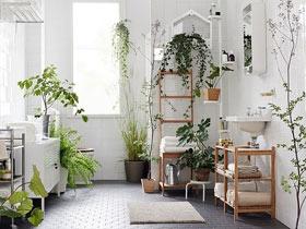 森系北欧风卫生间设计 给卫生间注入绿意