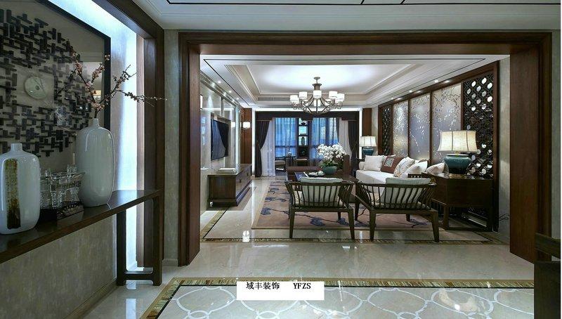 20万以上140平米以上中式别墅装修效果图,翡翠花园曹先生的新居装高清图片