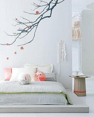 树枝装饰卧室设计